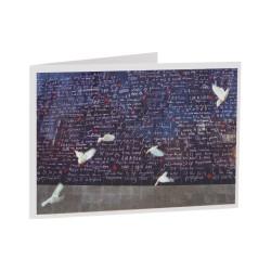 Carte de voeux colombes